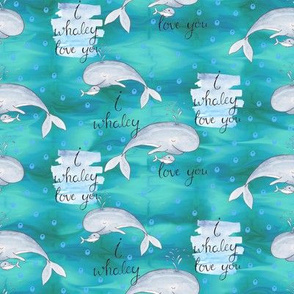 Whaley Love on Sea Green