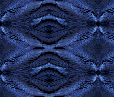 Raven Feathers fabric by vannina on Spoonflower - custom fabric