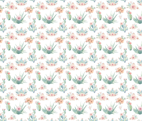 cacti_love-01 fabric by graceandcruzdesigns on Spoonflower - custom fabric