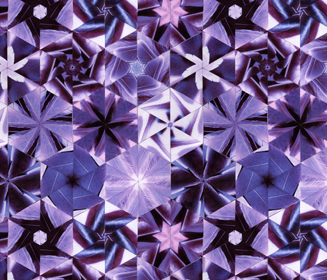 Feather hexagonal purple quilt fabric by zandloopster on Spoonflower - custom fabric