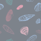 Sea Shells Outlines Pattern