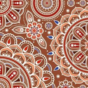Large Brown Mandalas