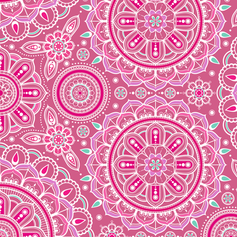 Pink_Mandalas fabric by woodmouse&bobbit on Spoonflower - custom fabric