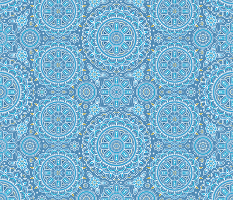 Blue_Mandalas fabric by woodmouse&bobbit on Spoonflower - custom fabric