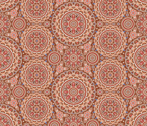 Brown_Mandalas fabric by woodmouse&bobbit on Spoonflower - custom fabric