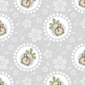 Wind Flower Mouse Grey large