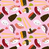 Sushi Pattern Pink