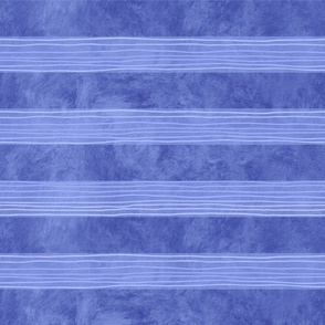 Blue Hand-Drawn Stripes Large
