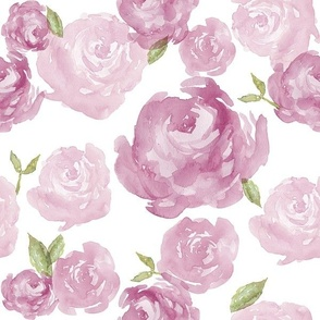 Plum Watercolor Rose