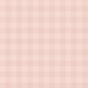 "1"" Buffalo Plaid - soft rose and pale peach"