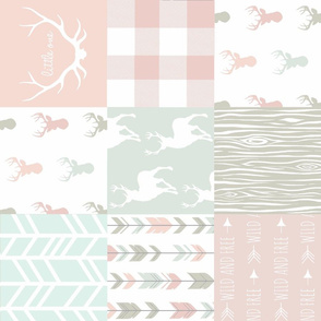 Patchwork Deer - Pastels/White 2 rotated