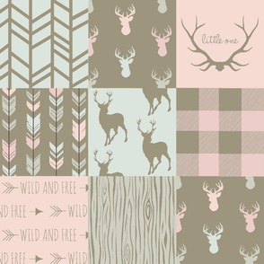 Patchwork Deer- pastels/brown