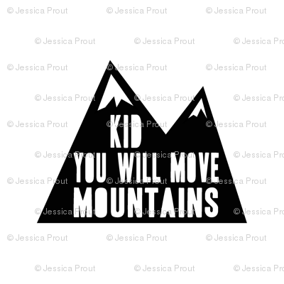 "8"" quilt blocks - Kid you will move mountains"