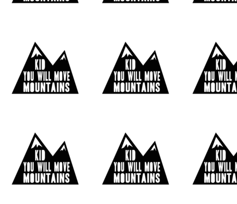 "8"" quilt blocks - Kid you will move mountains fabric by littlearrowdesign on Spoonflower - custom fabric"