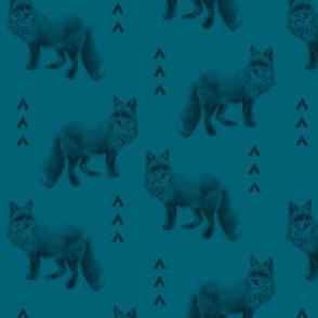 Fox and Arrows - Dark Teal