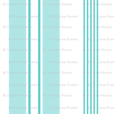 stripes - french ticking - pale turquoise