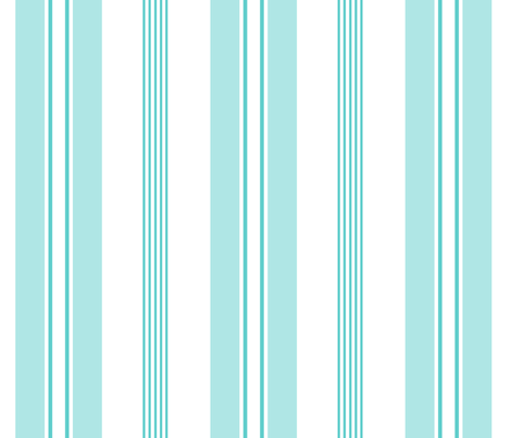 stripes - french ticking - pale turquoise fabric by christine_roehm_design on Spoonflower - custom fabric