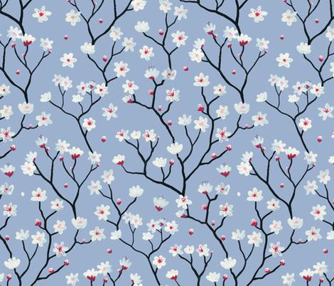 Blossom Blue fabric by mayabeeillustrations on Spoonflower - custom fabric