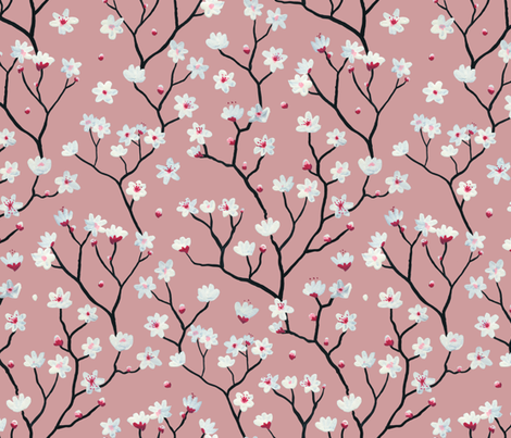 Blossom Pink fabric by mayabeeillustrations on Spoonflower - custom fabric
