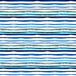 Watercolor blue stripes pattern