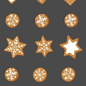 Winter Cookies on slate - grid