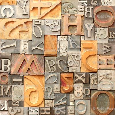 Metal & Wood Letterpress Type - medium
