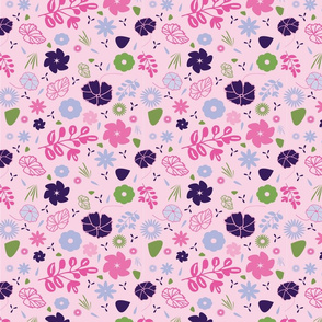 Bright Pink and Lavendar Pattern