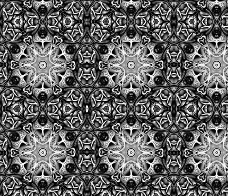 Charcoal Complexity fabric by floramoon on Spoonflower - custom fabric
