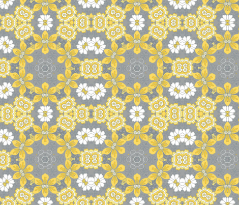 Spring Yellow fabric by floramoon on Spoonflower - custom fabric