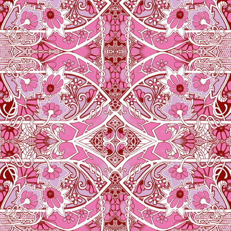 Gardening on the Pink Planet fabric by edsel2084 on Spoonflower - custom fabric