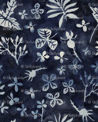 garden silhouettes midnight blue