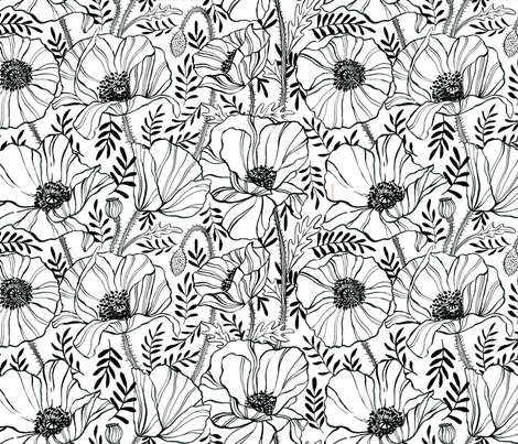 Poppies fabric by c_manning on Spoonflower - custom fabric