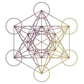 Metatron's Cube - Rainbow -large