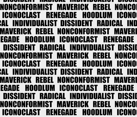 dissident synonyms 2 fabric by la_bricoleuse on Spoonflower - custom fabric