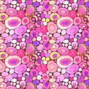 Geode Stones in Rose