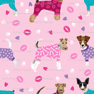 Terriers In Pyjamas Fabric Dogs In Clothes Cute Rat