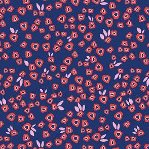 Poppy patches in blue