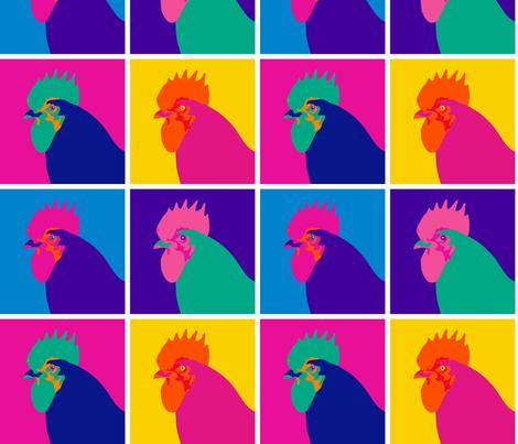 Pop Art Chicken - Small fabric by mariafaithgarcia on Spoonflower - custom fabric