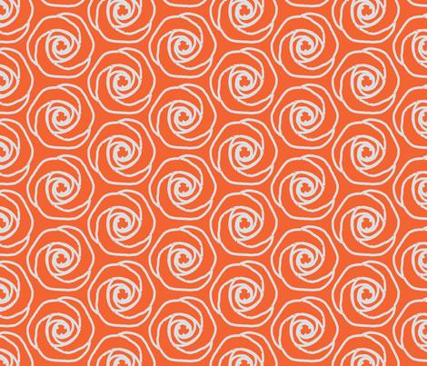 Soft hexagonal flowers-o fabric by miamaria on Spoonflower - custom fabric