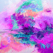 Purple and Hot Pink Abstract Painting