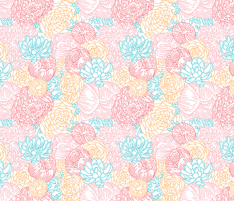 Floral Profusion fabric by studiomme on Spoonflower - custom fabric