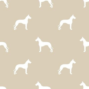 Great Dane silhouette dog fabric sand
