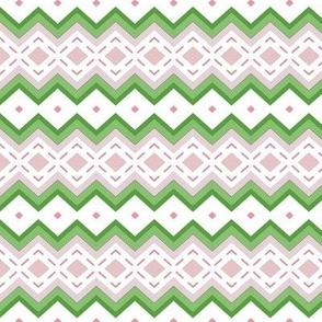 Little Megan Rose -Diamond stripe