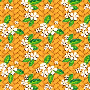 Palm Weave Plumeria