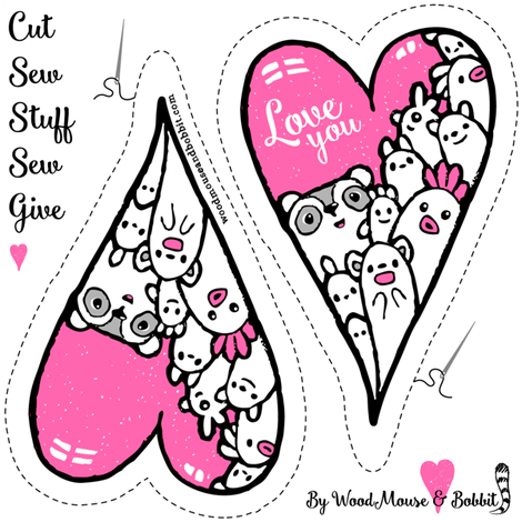Cut Out & Give Heart 4 fabric by woodmouse&bobbit on Spoonflower - custom fabric