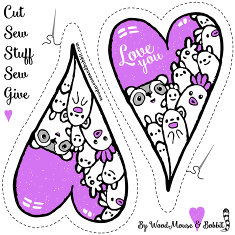 Cut Out & Give Heart 7 fabric by woodmouse&bobbit on Spoonflower - custom fabric