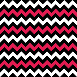 Black and Red Chevron