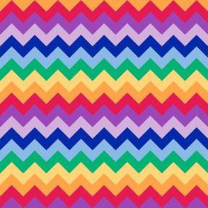 Rainbow Tangram Chevron
