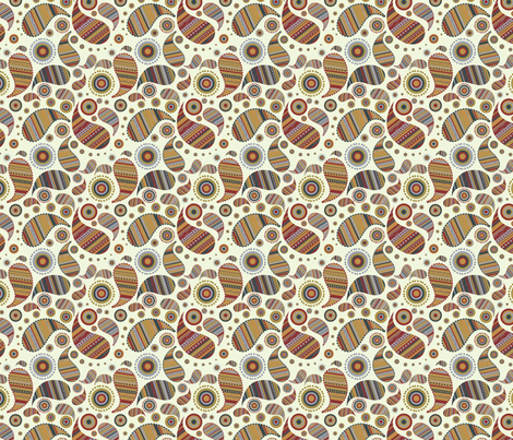 Paisley Print fabric by puggy_bubbles on Spoonflower - custom fabric