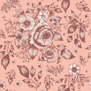 Wonderland Toile - Country Rose (small)